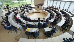 Schleswig-Holsteinischer Landtag, Blick in den Plenarsaal