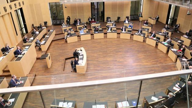 Blick in den Sitzungssaal des Bundesrats.