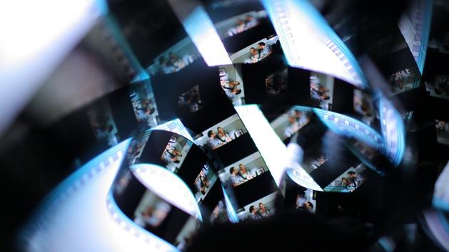 Detailaufnahme analoger Filmstreifen