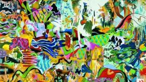 Abstraktes Gemälde des Künstlers Daniel Richter (Ausschnitt)