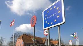 Grenzübergang an der Grenze zu Dänemark.