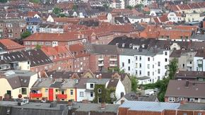 Blick über die Dächer der Landeshauptstadt Kiel