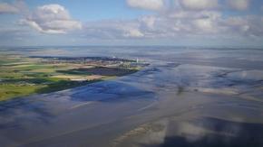 Das Wattenmeer vor Büsum bei Ebbe