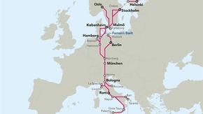 TEN-T Scandinavian-Mediterranean Corridor (Grafik)