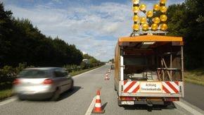 Streckenkontrolle auf einer Autobahn