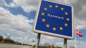 Das EU-Schild an der deutsch-dänischen Grenze