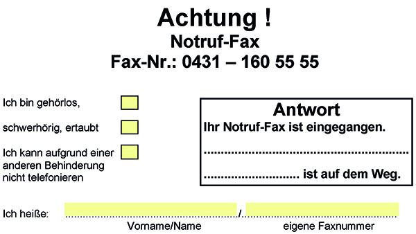 Vorschaubild des Notruffaxes