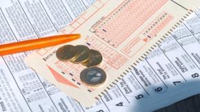 Ein Tippschein für Lotto