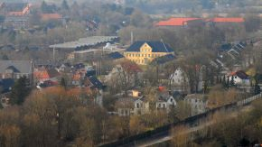 Luftaufnahme des Prinzenpalais, Schleswig, im Stadtteil Friedrichsberg (12. März 2013)