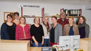 Mitarbeirinnen und Mitarbeiter der Landesbibliothek