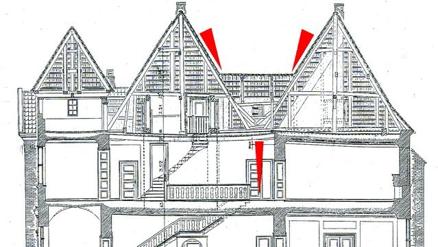 Querschnitt des Herrenhauses Wahlstorf aus einem Bauforschungsbericht