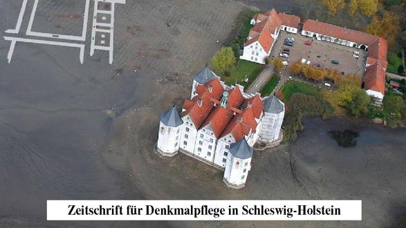 Ausschnitt aus einem Titelblatt der Zeitschrift DenkMal! mit dem Glücksburger Schloss