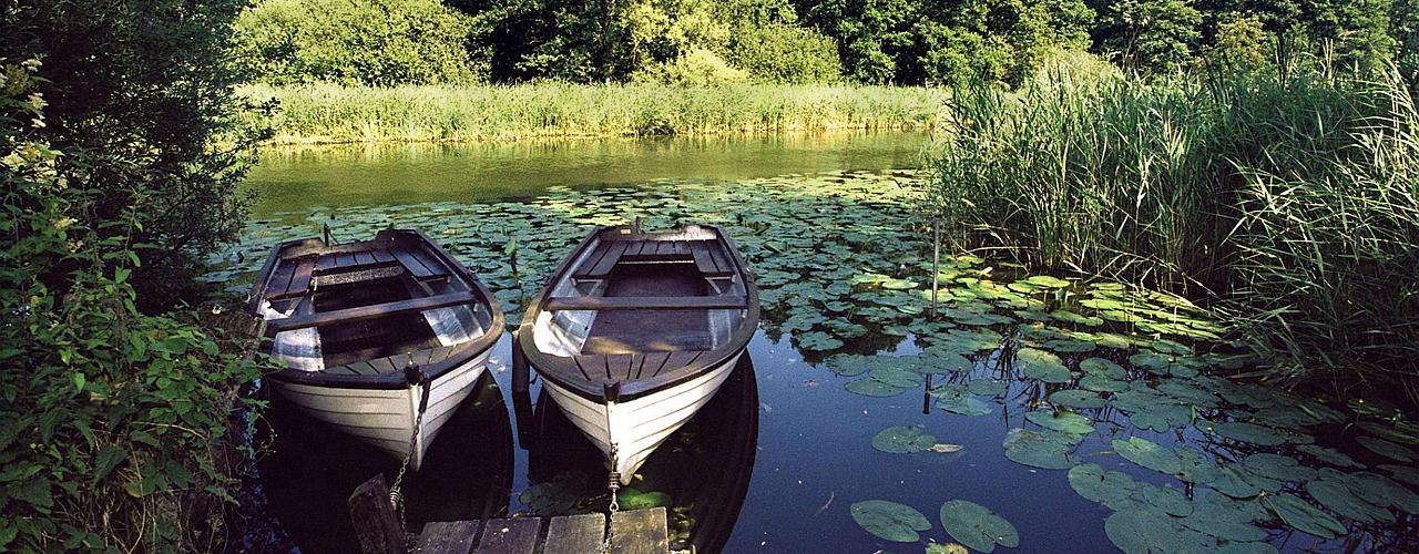 Boats on the river Schwentine near Kiel